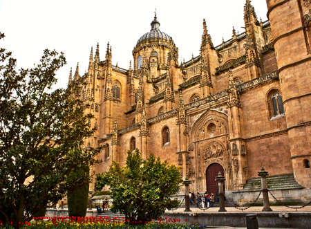 Ancient Cathedral XVIII century in Segovia, Spain
