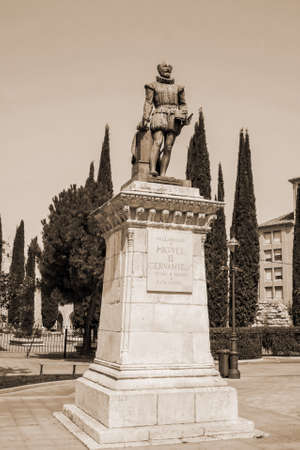 castilla: Cervantes monument in Valladolid, Castilla y Leon, Spain