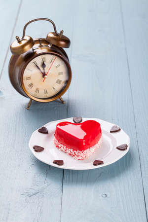 cheese cake: Last time for love - sweet valentin Stock Photo