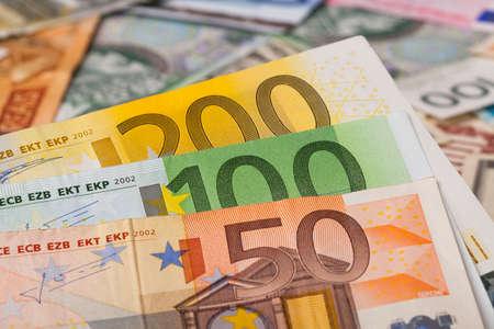 euro banknotes - close up photo