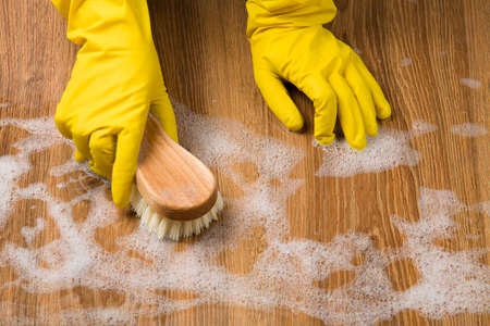 cleaning products: Limpieza Concepto - lavado de pisos