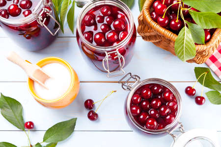 sour food: Homemade cherry compote