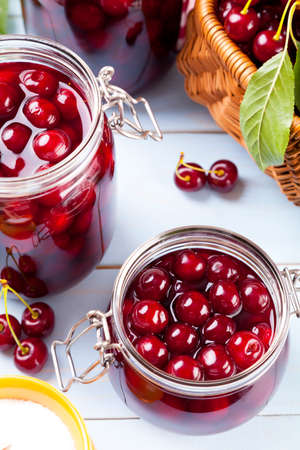 compote: Homemade cherry compote