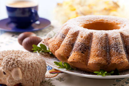 occasion: Easter marble ring cake with a cap of coffee