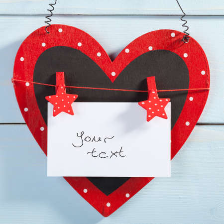 he is a traditional: Valentines Day. Heart of wishes for lovers.