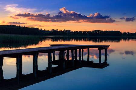 Sunset over the lake. Mazury - POLAND