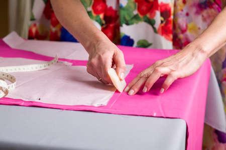 Nähwerkstatt. Vorbereiten Der Nähmatte. Material Ausschneiden. Naht ...