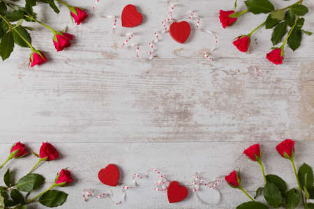 Valentine's Day. Rose on a background. Imagens