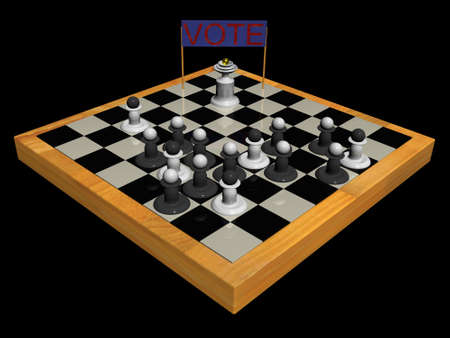 debate win: The Candidate Addresses to Pawns.(Vote cuncept and presentation figure 3d).