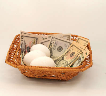 diversify: Eggs and Money All in Same Basket.  Dont Put All Your Eggs in One Basket.