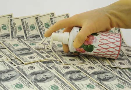 Money Laundering Scheme, Washing Dollar. Symbol of Financial Fraud.