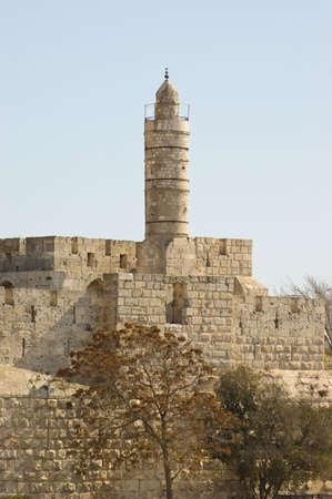 Los antiguos muros que rodean la ciudad antigua de Jerusal�n. Foto de archivo - 3864238