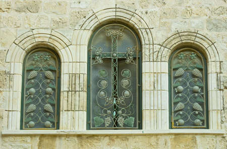 The Mosaic Window In The Church Of The Tomb. The Old City Of Jerusalem. photo