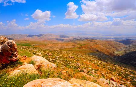 judea: Landscape Of Judea Mountains Near Dead Sea.