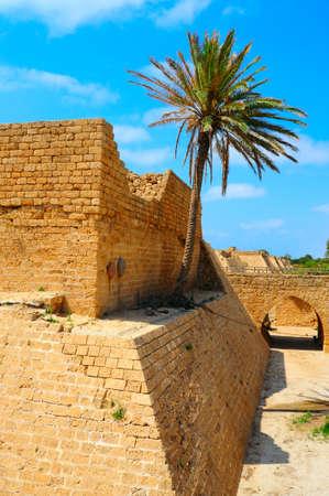 ceasarea: Ruins Of Ancient Roman City Ceasarea, Israel. Stock Photo
