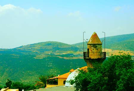 kabbalah: Arab Mosque in Kabbalah City of Safed in the Mountains of Galilee.