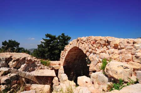 kabbalah: Ruins Of Ancient Citadel In Kabbalah City Of Safed.
