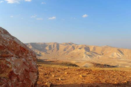 judea: Landscape Of Judea Mountains Near Dead Sea Stock Photo
