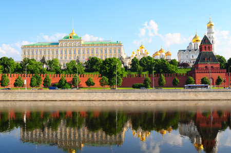 View From Moscow-river On Kremlin And Big Palace. Stock Photo - 5100139