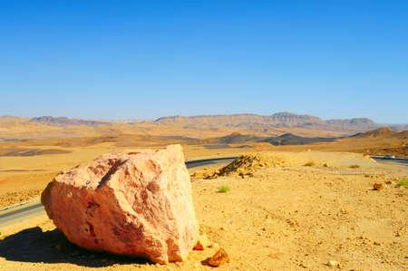 Meandering Road In Sand Hills Of Negev Desert, Israel. photo