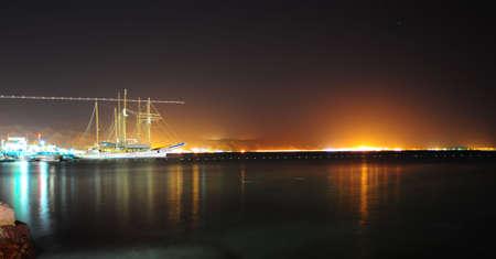 eilat: The Night Scenes Of Quiet Port, Red Sea