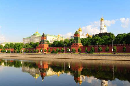 kremlin: Weergave van Moskou-rivier aan Kremlin