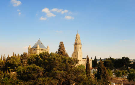 Church Of  Dormition And Bell-Tower On Mount Zion Stock Photo - 5599982