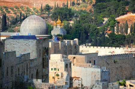 The Ancient Walls Surrounding Old City in Jerusalem Stock Photo - 5600025