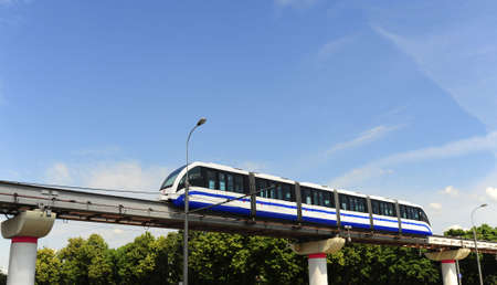 High Speed Monorail Train In Moscow, Russia. Standard-Bild