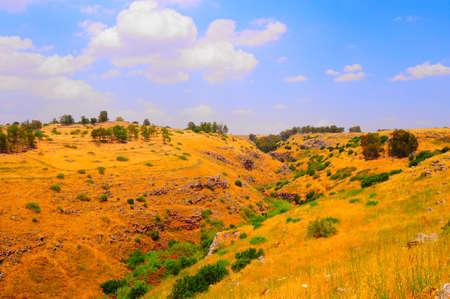 golan: View From Golan Height, Israel, To Jordan Valley Stock Photo