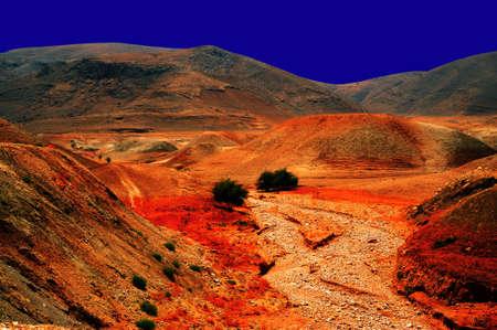 Night Scene Of Sand Hill In The Negev Desert, Israel.