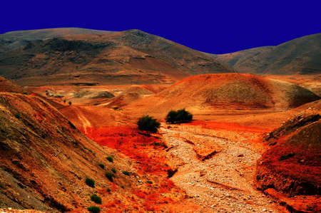 canyon negev: Night Scene Of Sand Hill In The Negev Desert, Israel.
