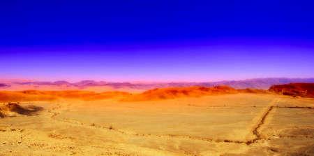 negev: Sand Hill In The Negev Desert, Israel. Sunset Stock Photo