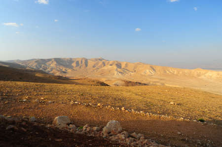 judea:   Landscape Of Judea Mountains Near Dead Sea. Stock Photo