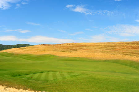 Construction Area Of The Golf Course In Toscana, Italy photo