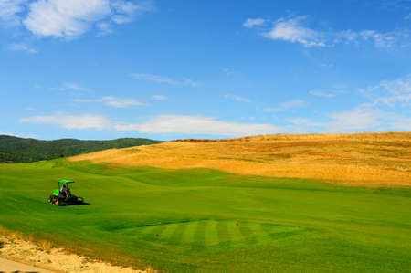 Construction Area Of The Golf Course In Tuscany, Italy