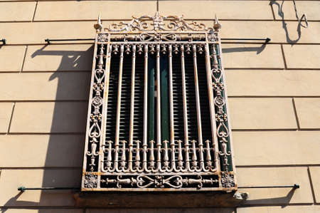 Decorated Closed Window Of Old Building In Pisa, Italy Stock Photo - 7680603