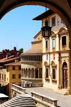 View Of The Historic Center Of Arezzo, Italy