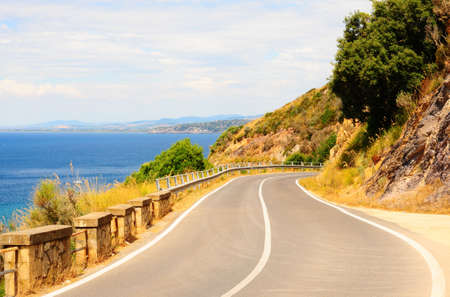 Winding Road In The Mountains Along The Coast photo