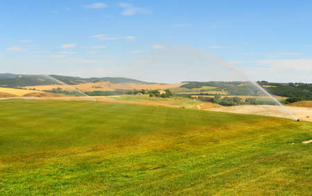 Construction Area Of The Golf Course In Tuscany, Italy photo