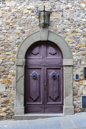 Close-up Image Of Wooden Ancient Italian Door photo