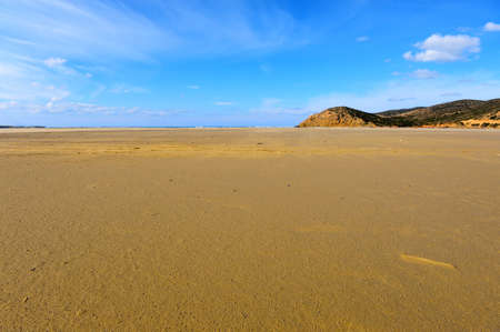 Extensive Sandbar During Low Tide on the Island of Rhodes photo