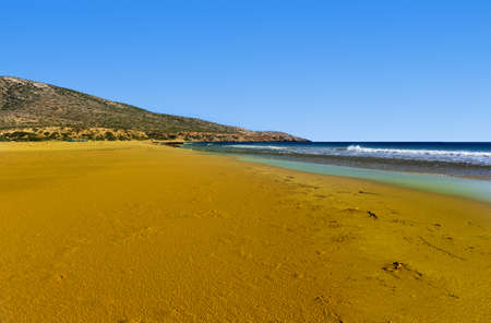 extensive: Extensive Sandbar During Low Tide on the Island of Rhodes