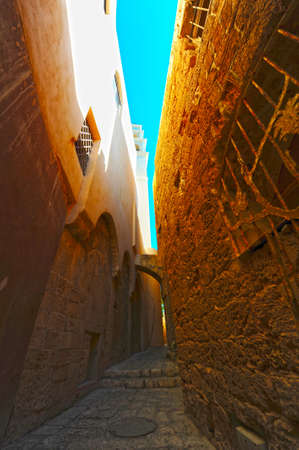 Area Of Old Restored Jaffa On a Sunny Day Stock Photo - 8936786
