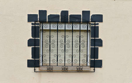 Decorated Closed Window of Old Building in Spain Stock Photo - 9491783