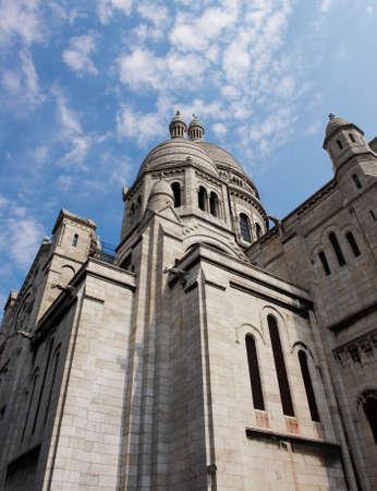 Church of the Sacre Coeur in Montmartre, Paris, France photo