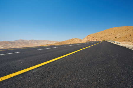 Asphalt Road In Sand Hills of Samaria, Israel Stock Photo - 10198738