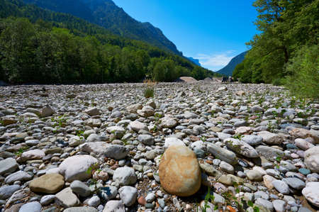 Dry River Bed in the Bavarian Alps, Germany photo