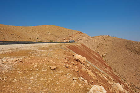 Meandering Road In Sand Hills of Samaria, Israel Stock Photo - 10222116