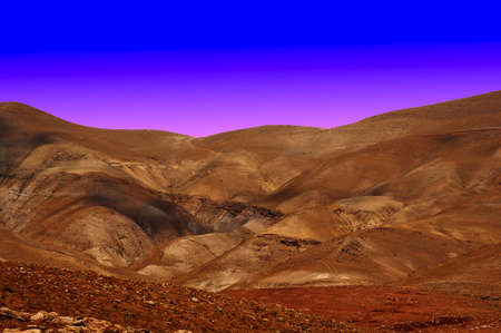 Sand Hills of Samaria, Israel. Sunset photo